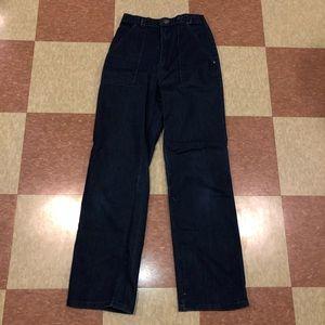 Vtg high rise boot cut denim jeans 6 8